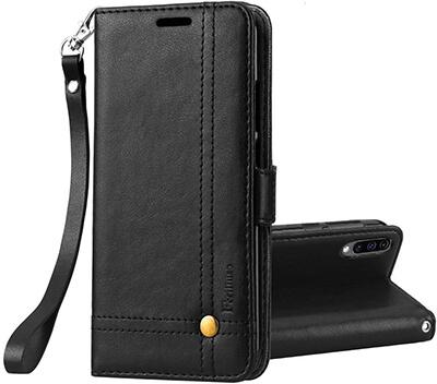Ferilinso Galaxy A50 Wallet Case with Wrist Strap
