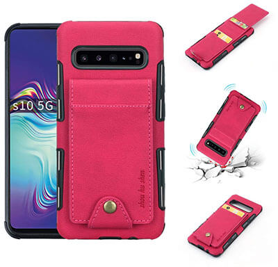CXCASE 5 ID Credit Card Slot S10 5G Wallet Phone Case