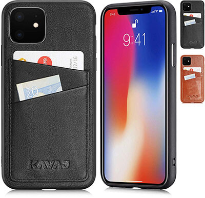 KAVAJ Wallet Case for iPhone 11