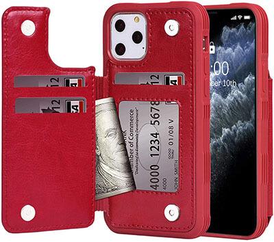 Arae iPhone 11 pro PU Leather Wallet Case