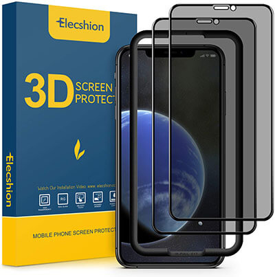 Elecshion Privacy Screen Protector for 2019 iPhone 11/2018 iPhone XR