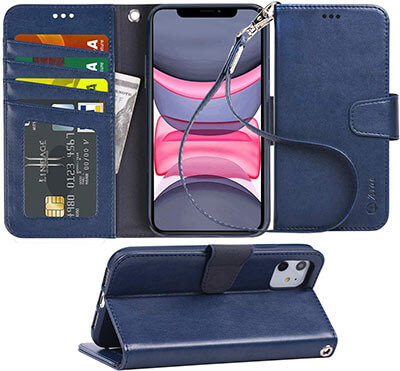 Arae iPhone 11 PU Leather Wallet Case