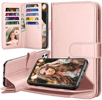 Takfox iPhone 11 Pro PU Leather Wallet Flip Wallet Case