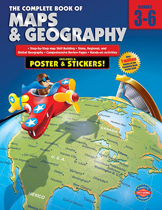 Carson Dellosa – The Complete Book of Maps & Geography, Social Studies