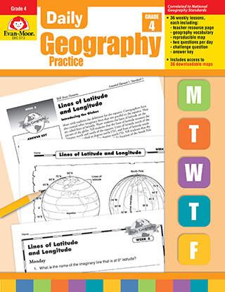 Evan Moor Daily Geography Practice, Grade 4