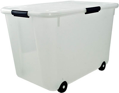 Advantus Rolling Storage Box, 15-Gallon Size