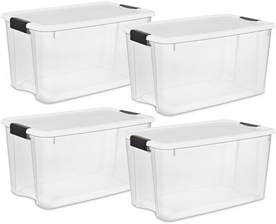 STERILITE 70 Quart/66 Liter Ultra Latch Box