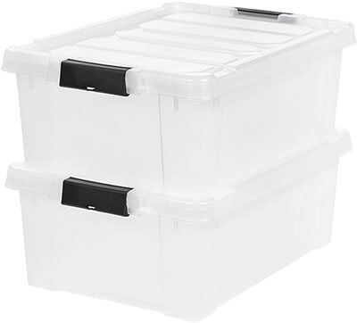 IRIS 11.75 Gallon Store-it-All Stackable Utility Tote