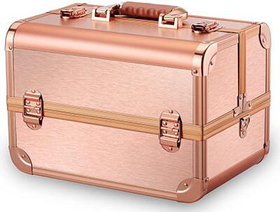 Ovonni Professional Portable Makeup Train Case
