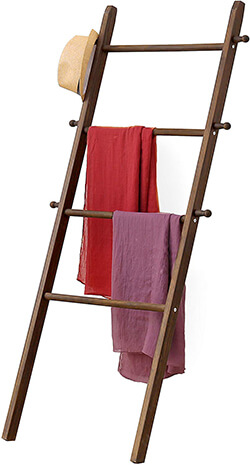MyGift Garment Ladder-Style Wall Rack