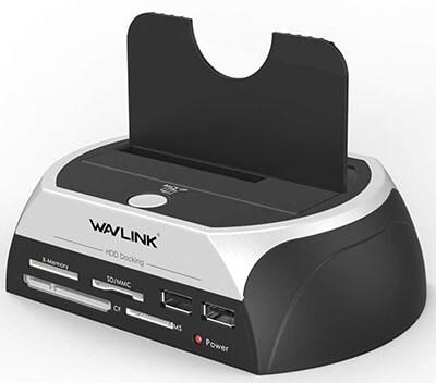 WAVLINK USB 2.0 to SATA Docking Station with TF & SD &MS Card