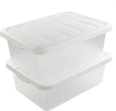Wekiog Versatile Storage Organizer Plastic Bins