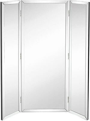 Hamilton Hills Tall Full Length Trifold Mirror