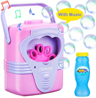 Oathx Bubble Machine with Music for Kids