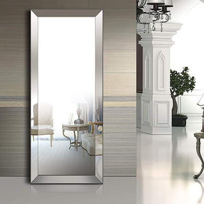 Baililai Full Length Floor Bevel Mirror