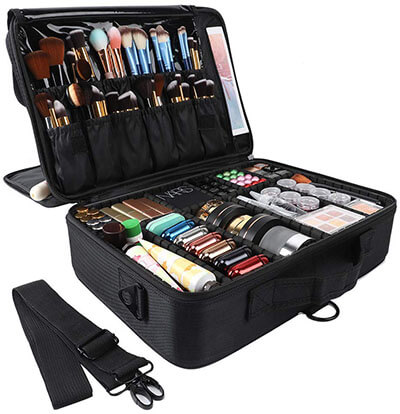 GZCZ 3 Layers Travel Professional Makeup Train Case