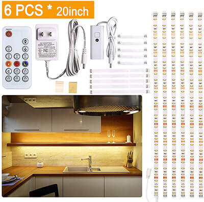 WOBANE Under Cabinet LED lighting kit