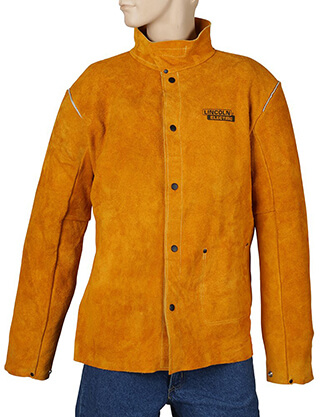Lincoln Electric Brown XX-Large Heavy Duty Leather Welding Jacket