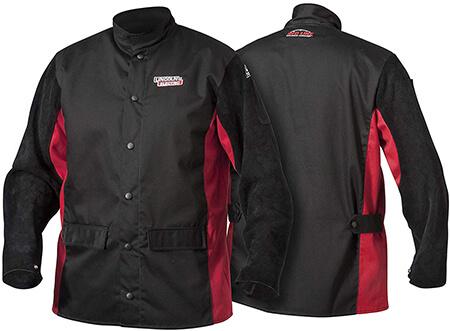 Lincoln Electric K2986-5XL Split Leather Sleeved Welding Jacket