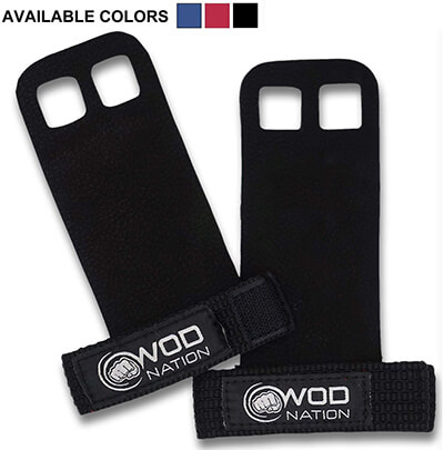 WOD Nation Leather Gymnastics Grips for Pull-up Training