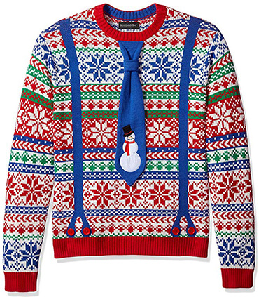 Blizzard Bay Men's Ugly Christmas Sweater Costume