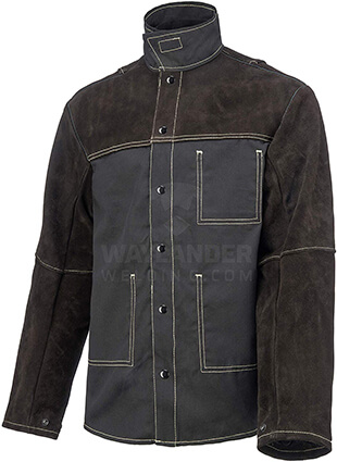 Waylander Welding Jacket Medium Split Leather