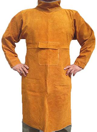 Jewboer Durable Leather Welding Jacket