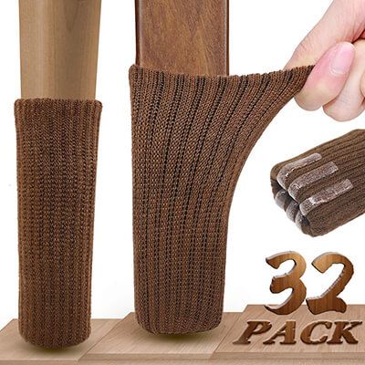 Ravmix 32PCS Knitted Elastic Furniture Socks