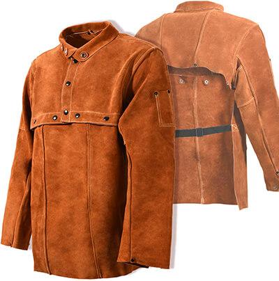 Leaseek Leather Welding Jacket, Welding Apron with Sleeve