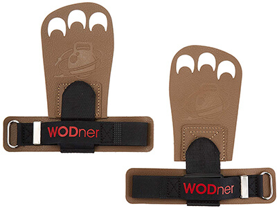 WODner One Size Fits All Handsavers Leather Grips Crossfit Gloves