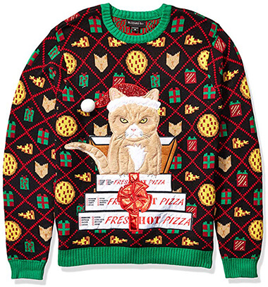 Blizzard Bay Men's Ugly Christmas Sweater Cat