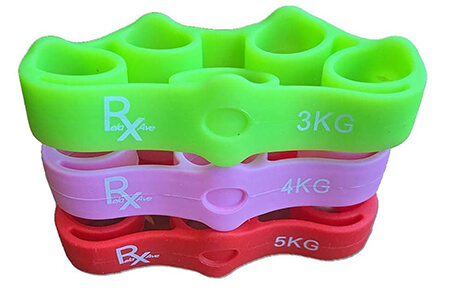 RelaxAve Finger & Hand Strengthen Grip Resistance Bands