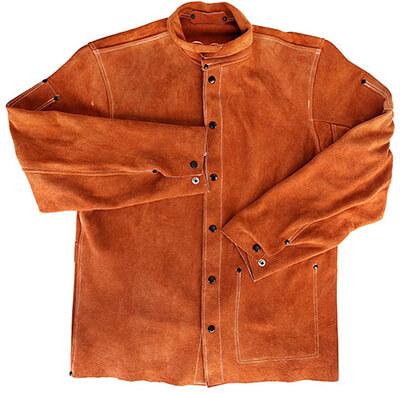 EULANGDE Leather Welding Work Jacket