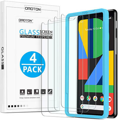 OMOTON Screen Protector Tempered Glass Scratch Resistant Covers