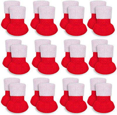 HAKACC 24 PCS Christmas Chair Leg Socks