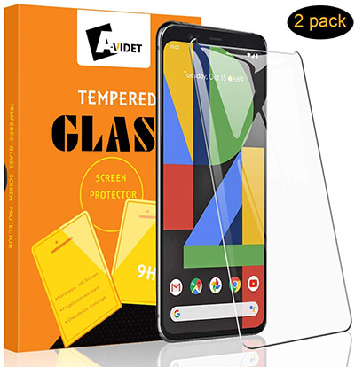 A-VIDET Google Pixel 4 Screen Protector Tempered Glass