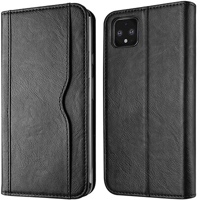 Polaland Pixel 4 Leather Flip Cover with Magnetic Closure