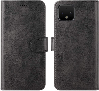 Feitenn Google Pixel 4 Folio Flip PU Leather Wallet Case