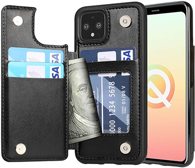 Arae Case for Google Pixel 4 Wallet Case with Card Pocket