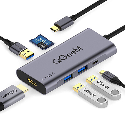 QGeem USB c Hub HDMI Adapter