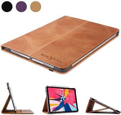 Boriyuan iPad Pro 11 Leather Case