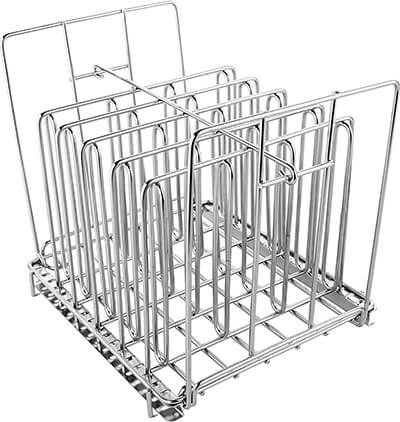 Stainless Steel Sous Vide Rack with Adjustable No-Float Top Bar