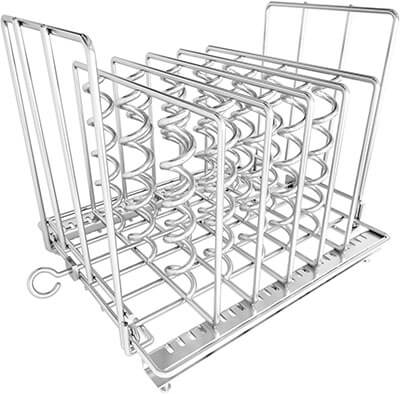 Sous Vide Rack, Stainless Steel Adjustable Collapsible Rack Frame