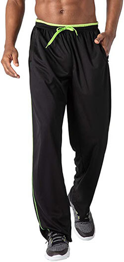 BIYLACLESEN Men's Breathable Running Gym Jogger Sweatpants with Zipper Pockets