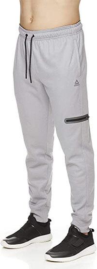 Reebok Men's Jogger Running Pants with Zipper Pockets