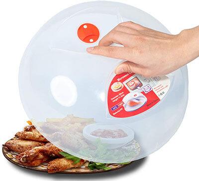 Large Microwave Plate Cover Easy Grip Microwave Splatter Guard Lid