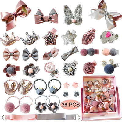 Baby Girl's Hair Clips Cute Hair Accessories Ponytail Holder