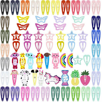 ECADY Hair Clips Colorful Hair Clips for Girls