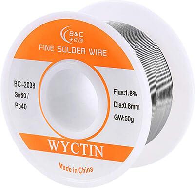 WYCTIN 60-40 Tin Lead Rosin Core Solder Wire