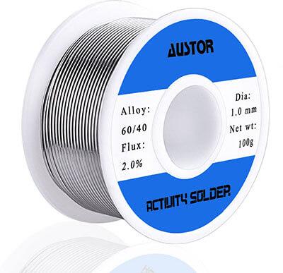 AUSTOR 60-40 Tin Lead Rosin Core Solder Wire